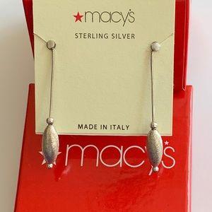 Macy*s Sterling Silver Droplet Earrings